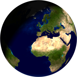 A sphere rendered with GLSL
